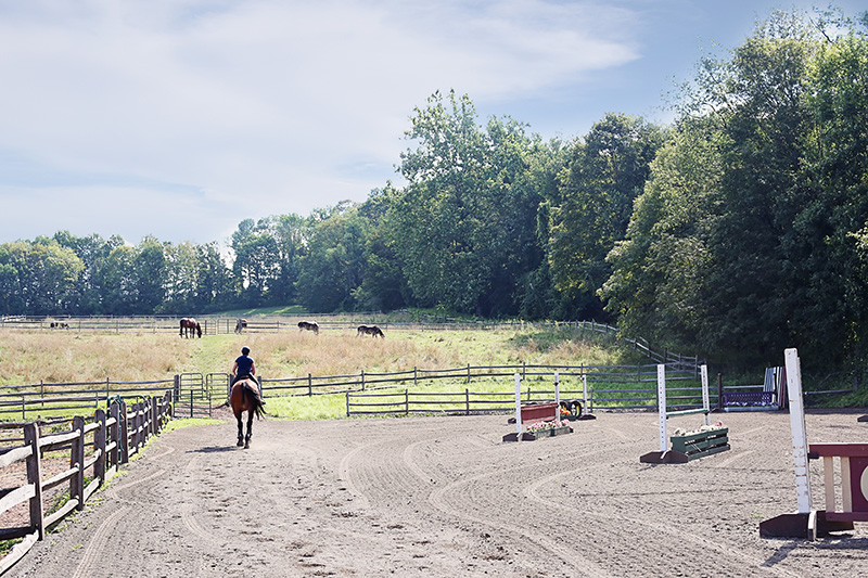 Person Riding on Farm