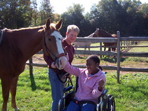 Disabled Child with Horse
