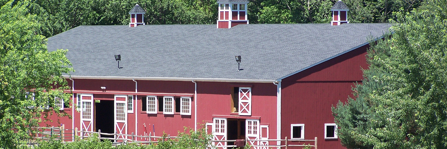 Shot of Barn Where the Horses Stay